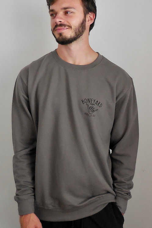 Ride it out sweat in charcoal grey