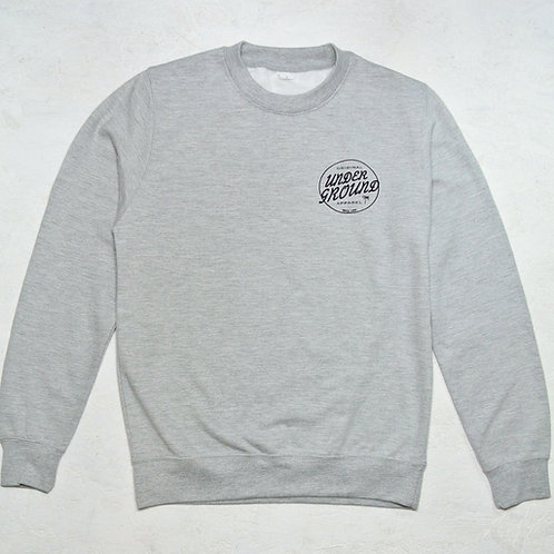 Leon crew-neck sweat in heather grey