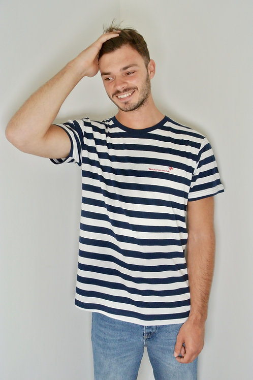 Stripy tee in navy/white