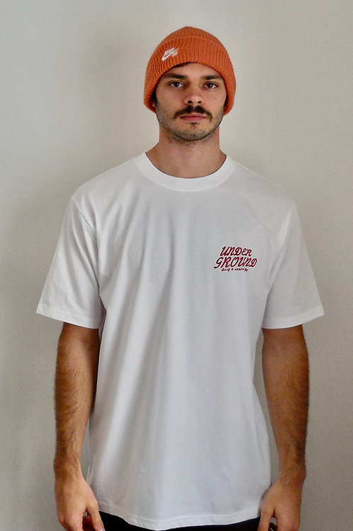 Base, oversize tee in white
