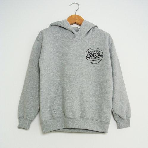 Kids Leon hoody in heather grey