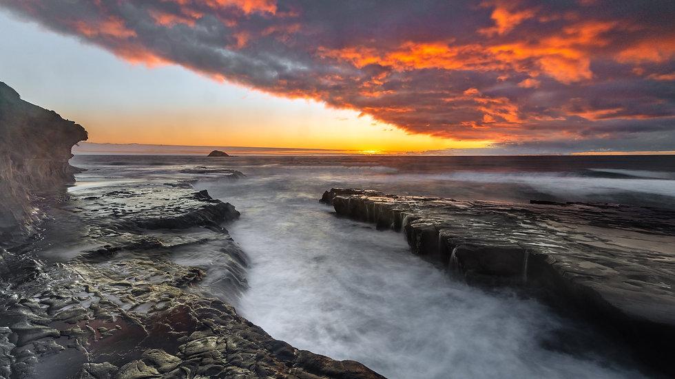 Muriwai Beach Sunset - Auckland - NZ
