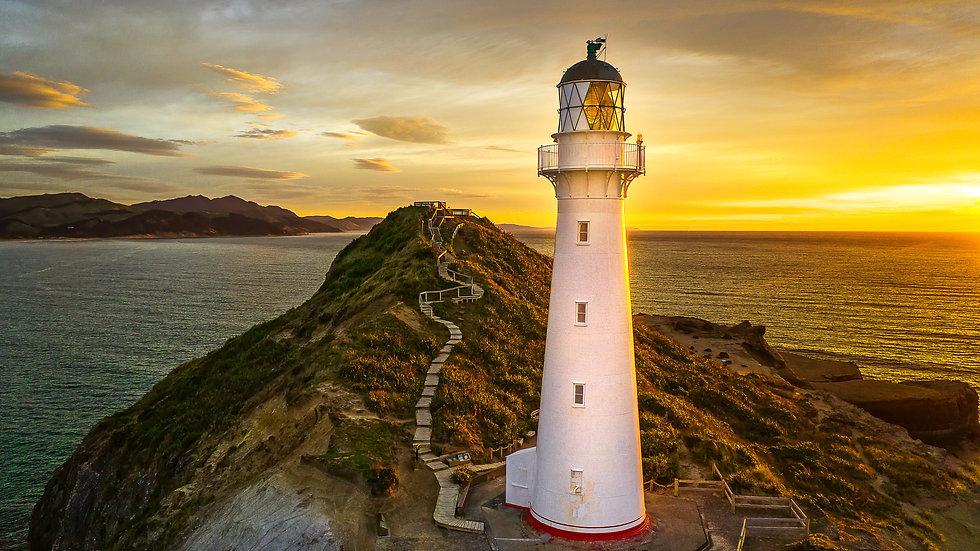 Castlepoint Lighthouse - Sunset