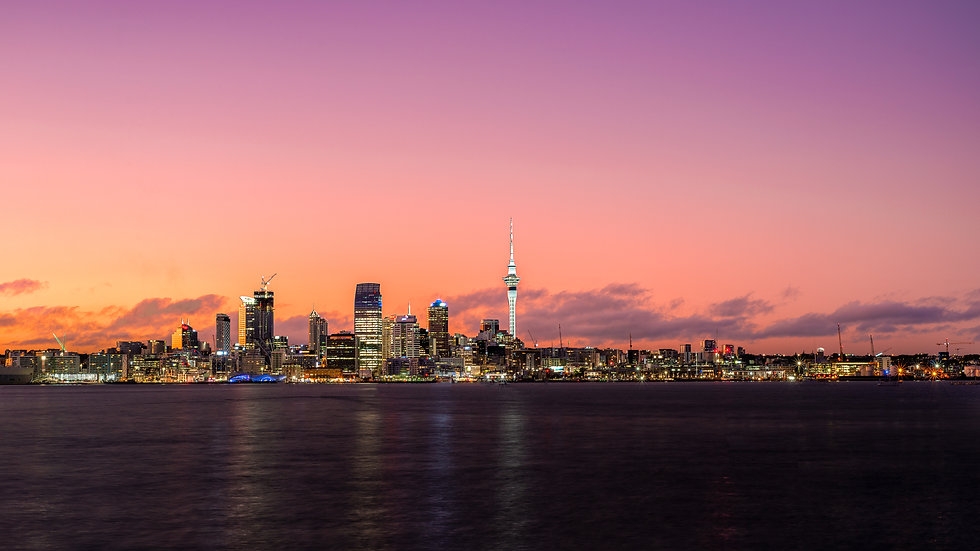 Auckland City Sunrise