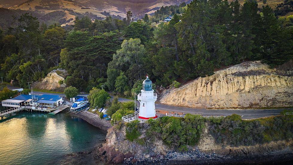 Akaroa - Aerial View - South Island - NZ