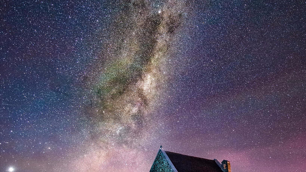 Church Of The Good Shepperd - Milky Way - Tekapo