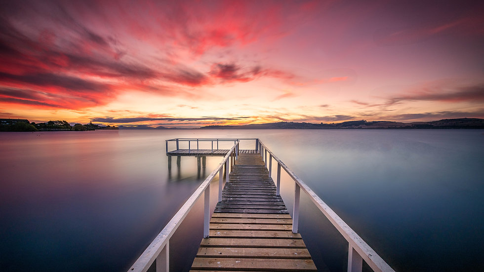Taupo - Sunset - North Island - New Zealand