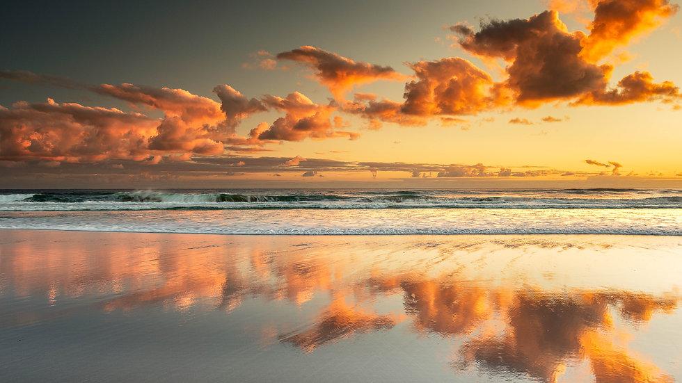 Pakiri Beach sunrise - North Island - New Zealand