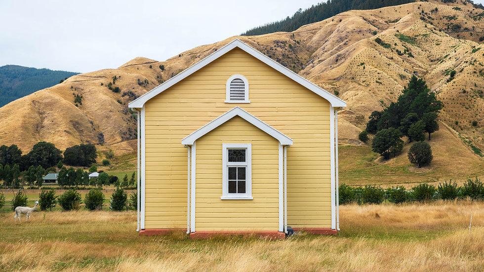 Yellow Church - Tuamarina - South Island - New Zealand