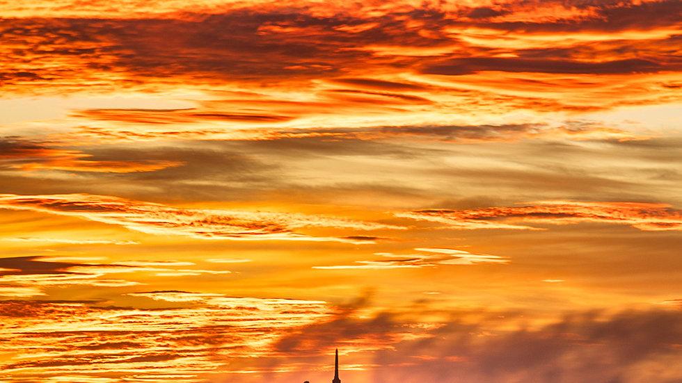 One Tree Hill - Burning Sunrise - Auckland