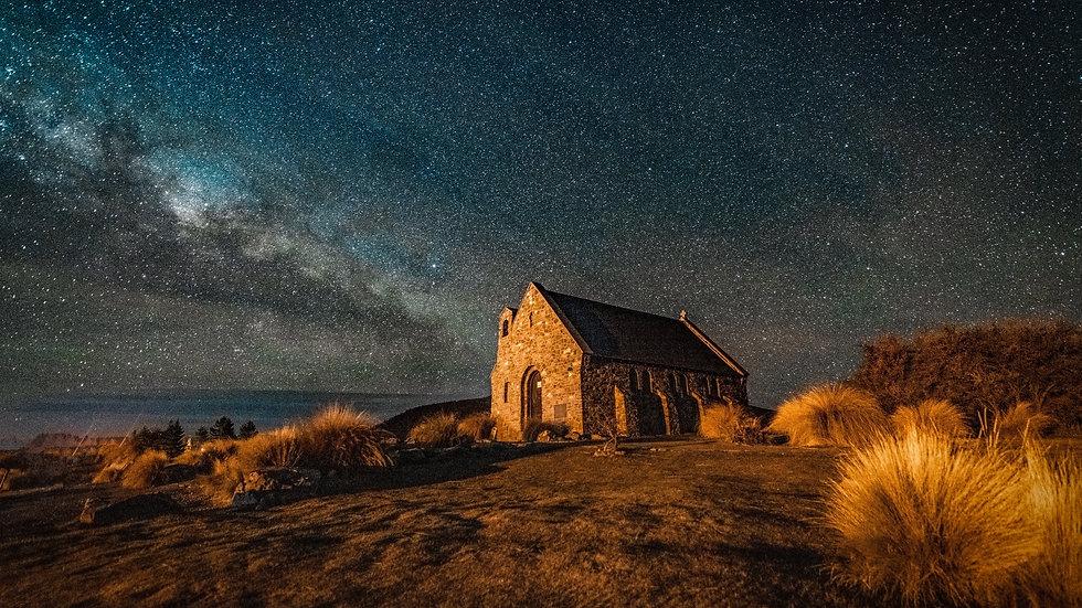 Church of the good shepherd  - Milky Way - Tekapo