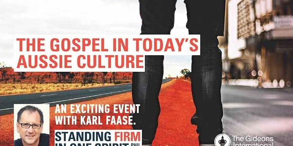 """A Special Event - """"Sharing the Gospel in Contemporary Australia"""" (Karl Faase)"""