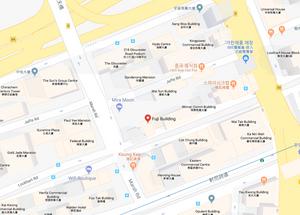 홍콩후지빌딩 인근 지도