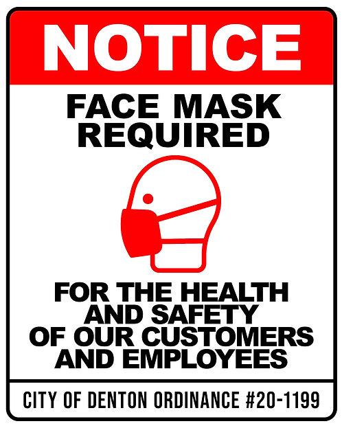 Face Mask Sticker - Denton 8x10