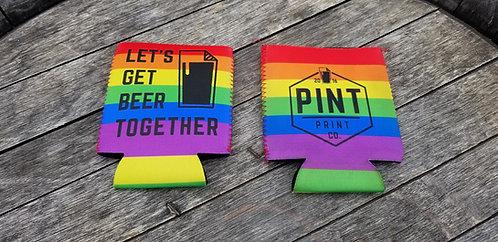 Let's Get Beer Together Can Coolie