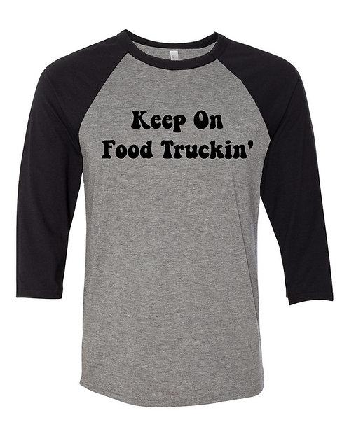 Food Truckin Raglan