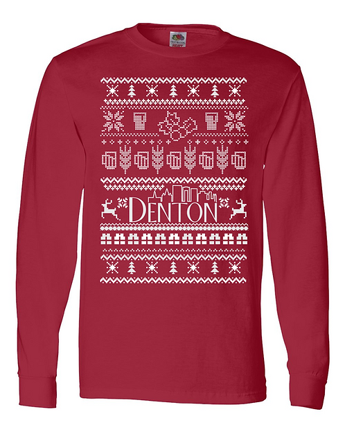 Denton Skyline Ugly Xmas Sweater