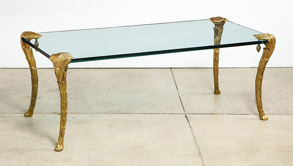 (#1913) Palme Dore Bronze Low Table by Maison Charles