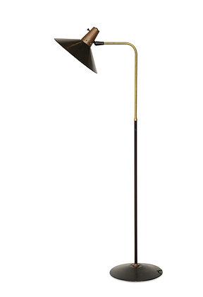 (#1254) Gerald Thurston for Lightolier Black Enamel Floor Lamp