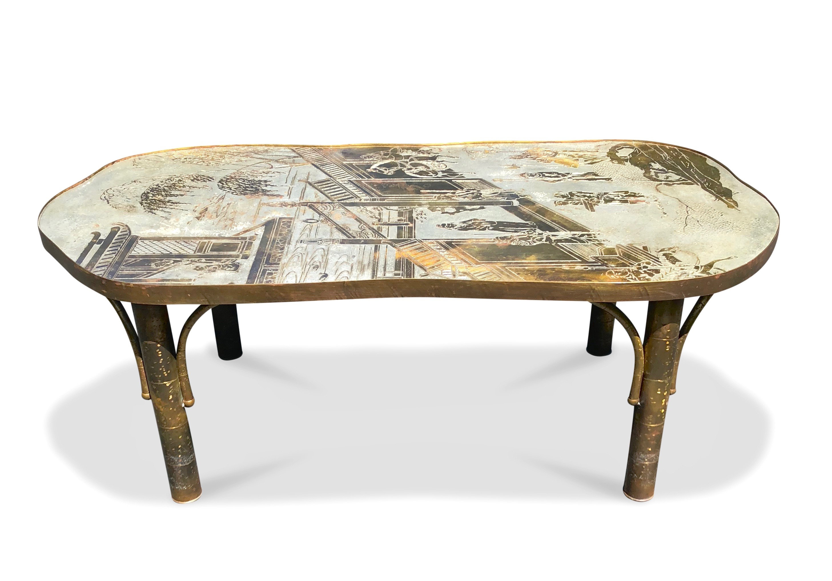 Philip Laverne Coffee Table.1489 Philip Kelvin La Verne Chan 140 Coffee Table 1960s Signed On Top