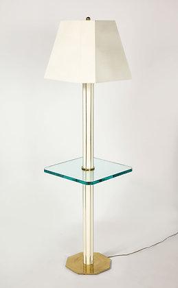 (#1987) Floor Lamp with Glass Shelf