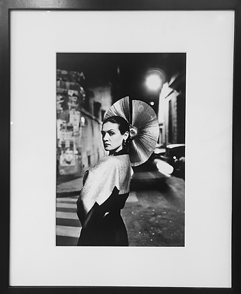 (#1313) Paloma Picasso In a Karl Lagerfeld Dress, Helmut Newton