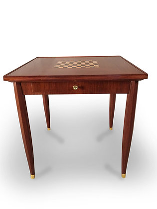(#1176) Art Deco Game Table, Signed Jules Leleu