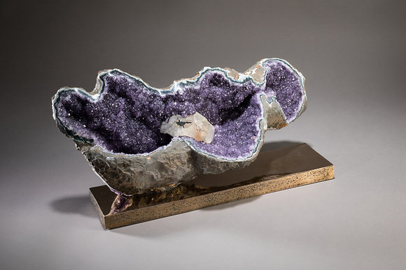 (#1868) Amethyst on Bronze Base