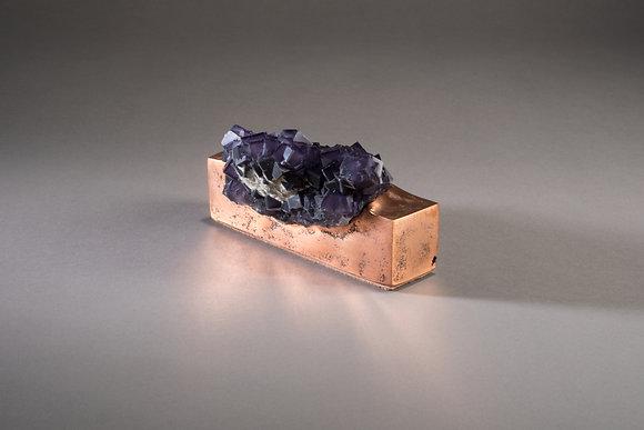 (#1856) Fluorite on Copper by Studio Greytak