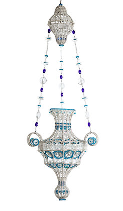 (#1743) Italian Neoclassical Beaded Chandelier