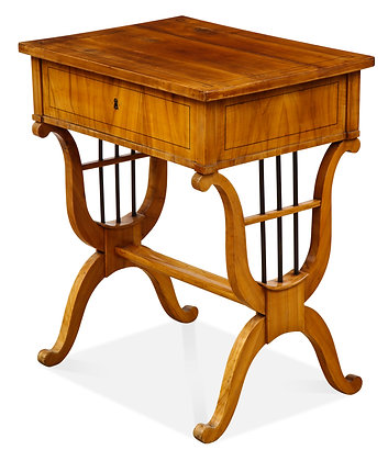 (#1545) Biedermeier Fruitwood Occasional Table