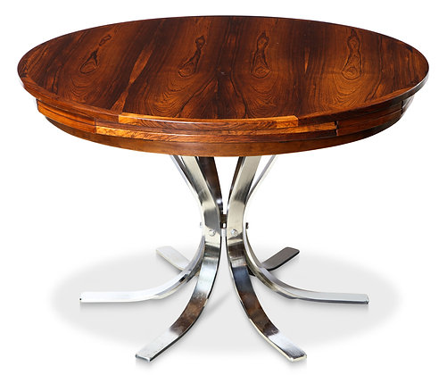 """(#1689) A Danish Rosewood  """"Lotus Design"""" Dining Table by Dyrlund"""
