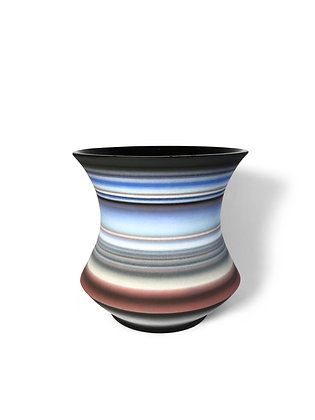 (#1443) Colored Striped Vessel, Medium Michael Dickey