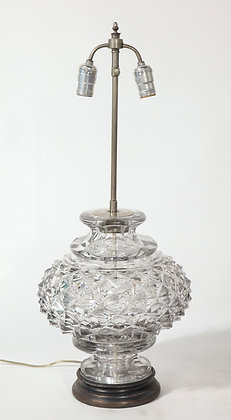 (#1969) French 19th Century Lead Crystal Lamp