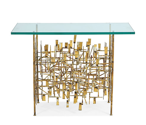 (#1138) A Unique Gilt Metal Console Table, by William Bowie