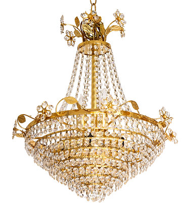 (#1511) Crystal Chandelier by Palwa