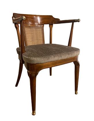 (#2048) A Rare Walnut Arm Chair by Mastercraft