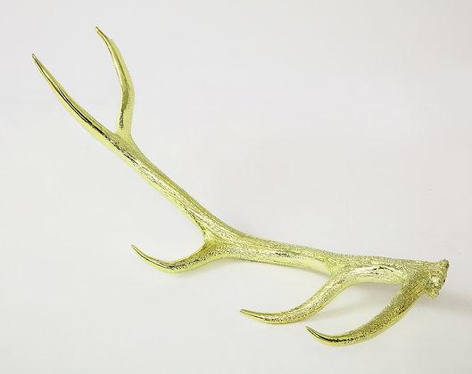 (#2011) Yellow-Gold Chromed Elk Antler Shed
