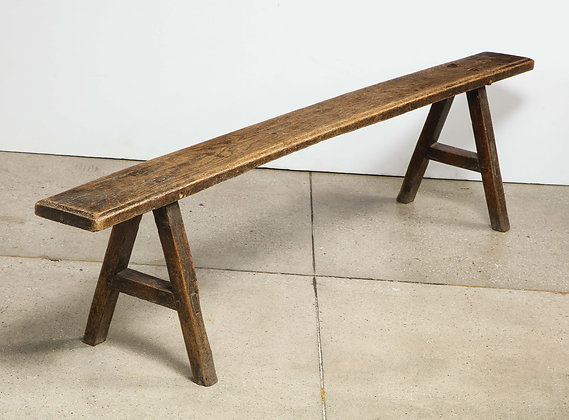 (#2020) 18th Century Oak Bench