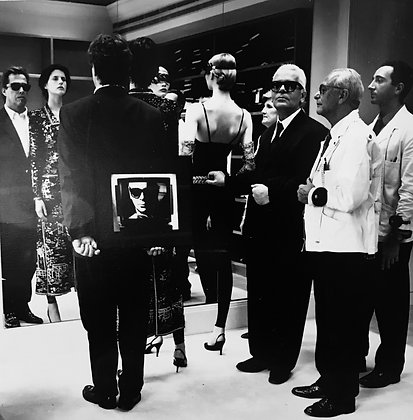 "(#1347) ""Karl Lagerfeld"" Paris, 1987, Helmut Newton"