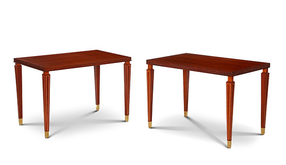 (#1207) Pair of Side Rosewood Tables by Paolo Buffa
