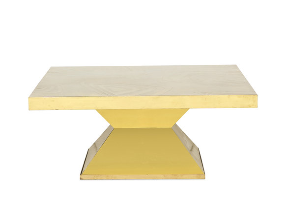 (#1020) Brass Low Table by Willy Daro
