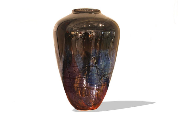 (#1149) Hand Blown Vase by Chris Ross