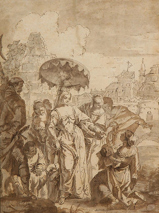 (#1970) Exceptional French 17th Century Old Master Drawing