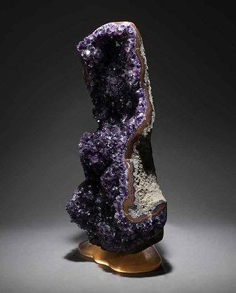 (#1917) Amethyst on Cast Glass Base by Studio Greytak