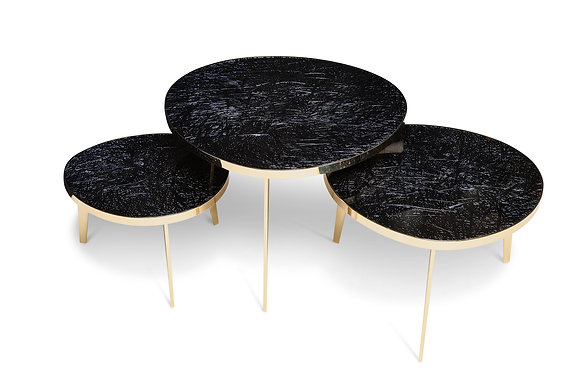 """(#1531) """"Tris,"""" Nest of Three Tables by Ghiró Studio"""