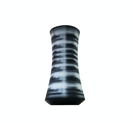 (#1441) Black Striped Vessel (Tall) Michael Dickey