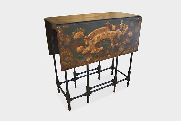 (#1467) Chinese Export Lacquered Gate Leg Table
