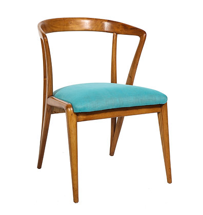 (#1927) Single Walnut Arm Chair by Bertha Schaefer for M. Singer & Sons