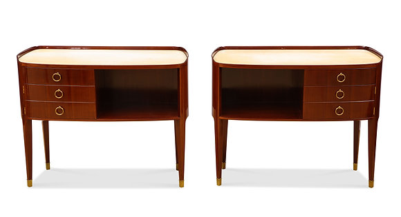 (#1311) Pair of Unique Commodes, By Paolo Buffa